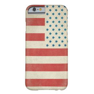 Amerikanischer Vintager Zivilflaggen-Kasten Barely There iPhone 6 Hülle