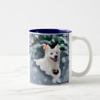 Amerikanisches Eskimohundeweihnachten Zweifarbige Tasse