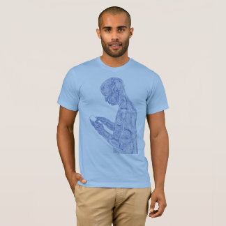 Amerikanisches Gebet (Baby mit Marine) T-Shirt