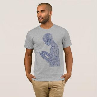 Amerikanisches Gebet (Heidegrau mit Marine) T-Shirt
