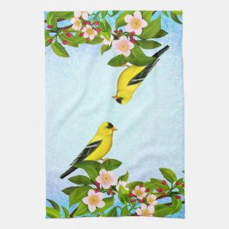 Amerikanisches Goldfinch-Vogel-Handtuch Handtuch