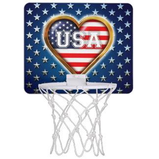 Amerikanisches Herz Mini Basketball Netz