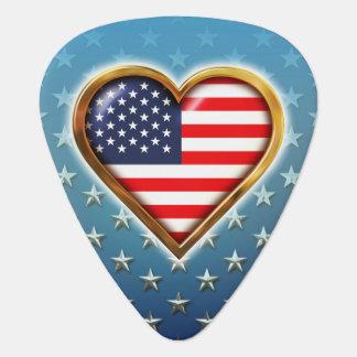Amerikanisches Herz Plektron