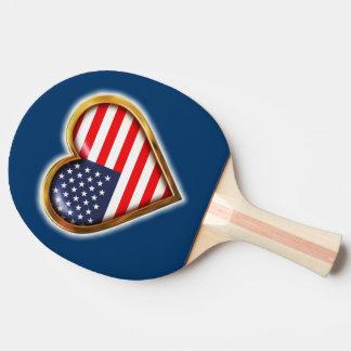 Amerikanisches Herz Tischtennis Schläger