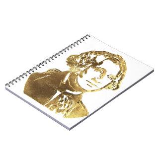 Amerikanisches Porträt-Gold Präsidenten-George Spiral Notizblock