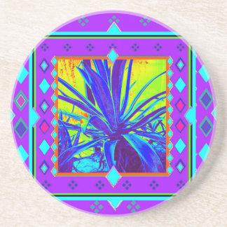 Amethyst FarbeNlue Agaven-Geschenke durch Sharles Sandstein Untersetzer