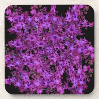 Amethyst lila abstraktes Hyazinthen-Schwarzes mit Getränkeuntersetzer