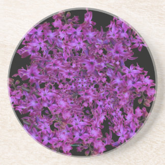 Amethyst lila abstraktes Hyazinthen-Schwarzes mit Untersetzer
