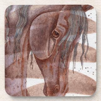 Amethyst Pferd auf Schokoladen-Wäsche Getränkeuntersetzer