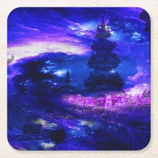 Amethyst Saphir-Bali-Träume Rechteckiger Pappuntersetzer