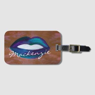 Amorous der Reise-  Lippenstift-Diva Lippendes Gepäckanhänger