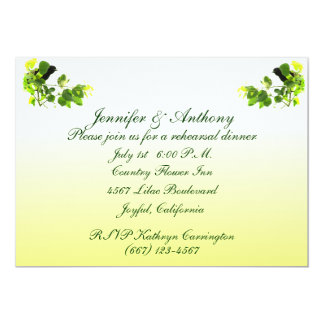 Amsel-Hochzeits-Proben-Abendessen 12,7 X 17,8 Cm Einladungskarte