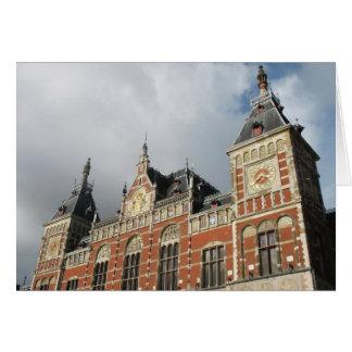Amsterdam-CS Zug-Stations-Eisenbahn-Foto-Karte Karte