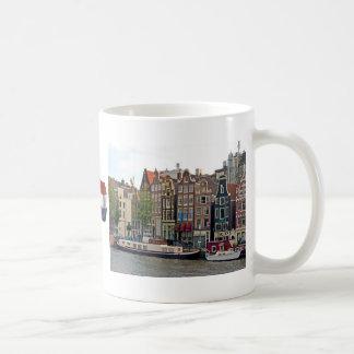 Amsterdam, Häuser auf dem Kanal Tasse
