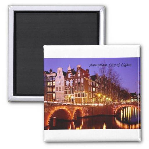 Amsterdam, Stadt der Lichter (durch St.K.) Magnets