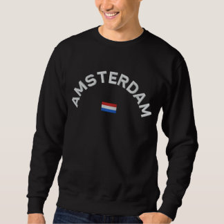 Amsterdam-Sweatshirt - Amsterdam Holland Besticktes Sweatshirt