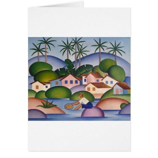 An Angler - tarsila von dem Amaral Karten