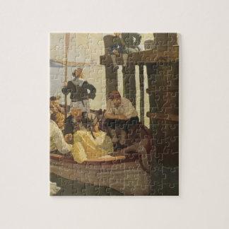 An der Fähre der Königin durch NC Wyeth, Vintage Puzzle