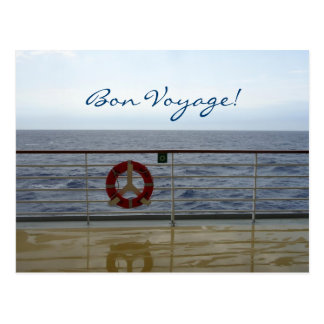 An der Geländer-kundenspezifischen guten Reise Postkarte