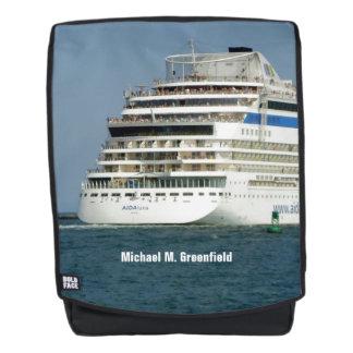 An der Rückseite des Schiffs personalisiert Rucksack