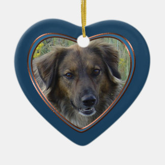 An meinem Seitenschablonen-Haustier-Denkmal Keramik Herz-Ornament