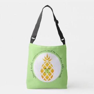 Ananas-fertigen Inspirational Taschen-Monogramm Tragetaschen Mit Langen Trägern