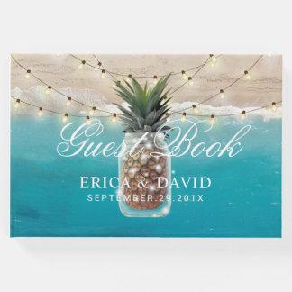 Ananas-Glas-Schnur beleuchtet tropische Gästebuch