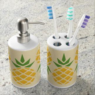 Ananas-Muster Badezimmer-Set