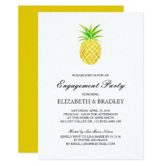 Ananaswatercolor-tropisches Verlobungs-Party 12,7 X 17,8 Cm Einladungskarte
