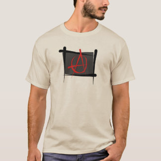 Anarchie-Bürsten-Flagge T-Shirt