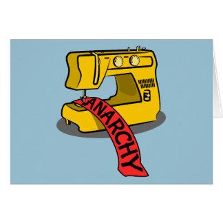 Anarchie-gelbe Nähmaschine Karte