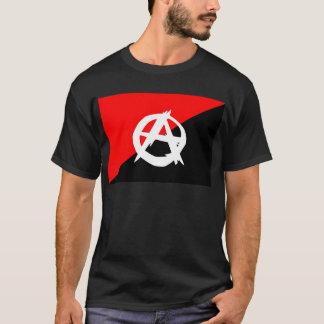 Anarchisten-Schwarz-weiße und rote Flagge T-Shirt