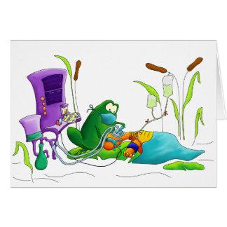 Anästhesie-Doktor Frog Grußkarte