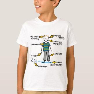 Anatomie eines 10-Jährige JUNGEN T-Shirt