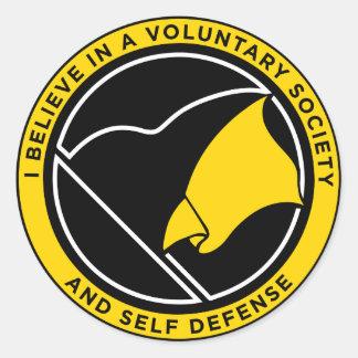 AnCap Voluntaryist Aufkleber