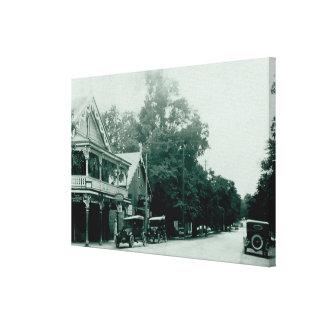 Ancaster Dorf-Vintager Leinwand-Druck Leinwanddruck