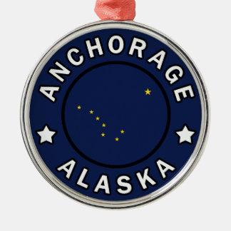 Anchorage Alaska Silbernes Ornament