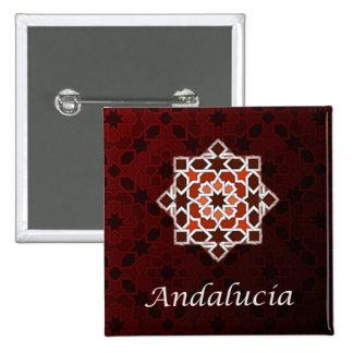 Andalusien im Kachel von Geometrie des Mosaiks Quadratischer Button 5,1 Cm