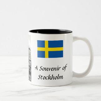Andenken-Kaffee-Tasse - Stockholm, Schweden Zweifarbige Tasse