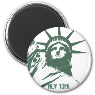 Andenken-Magnet New- YorkKühlschrankmagnet-NY Runder Magnet 5,7 Cm