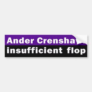 Ander Crenshaw: Unzulänglicher Reinfall Autoaufkleber