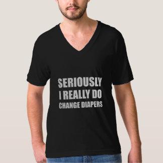 Ändern Sie ernsthaft Windeln T-Shirt