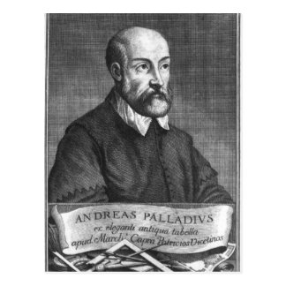 Andrea Palladio graviert von Francesco Postkarte