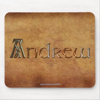 ANDREW Name-Brannte personalisiertes Geschenk Mauspad
