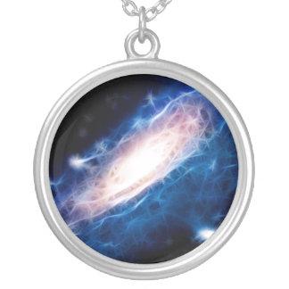 Andromeda-Galaxie Halskette Mit Rundem Anhänger