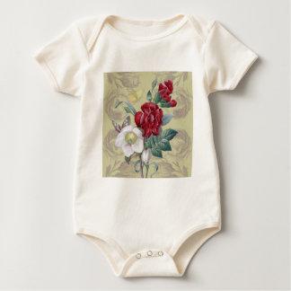 Anemone und Gartennelke Baby Strampler