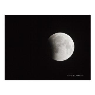 Anfang einer totalen Finsternis des Mondes Postkarte