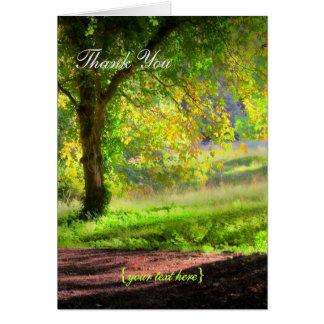 Anfang eines kornischen Herbstes - danke Karte