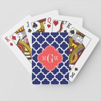 Anfangsmonogramm des Marine-weiße Marokkaner-#5 Spielkarten