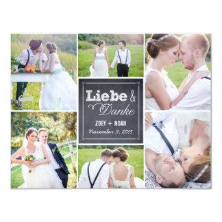 Angekreidet Collage Hochzeit danken Ihnen Karten 10,8 X 14 Cm Einladungskarte